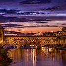 Ponte Vecchio, Florence by Erik Schlogl
