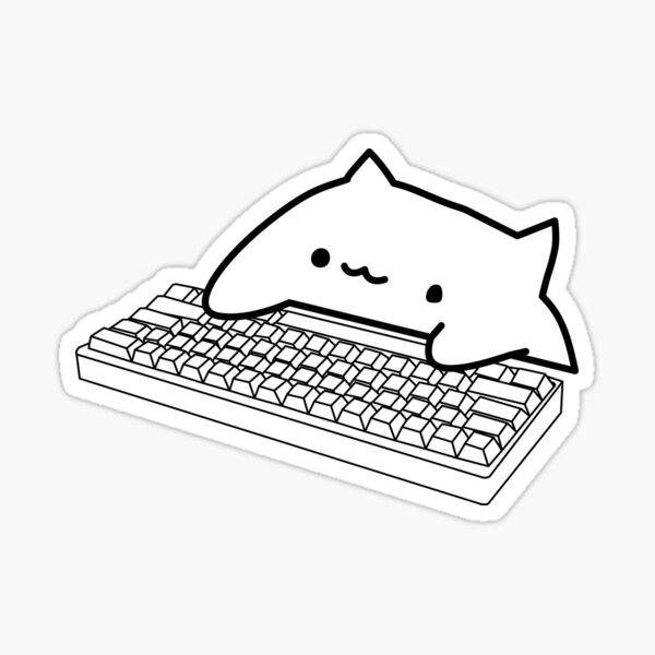 Bongo Cat Mechanical Keyboard Sticker