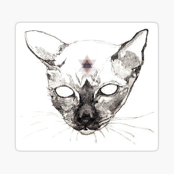 Katze Geometrisch Sticker
