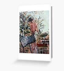 Woman in Summer Dress Greeting Card