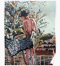 Woman in Summer Dress Poster