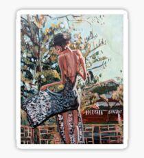 Woman in Summer Dress Sticker