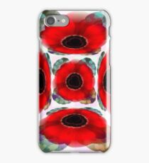 Poppies Warhol Style iPhone Case/Skin