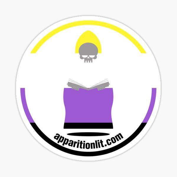 Non-Binary Pride Flag As The Apparition Lit Ghostie Sticker