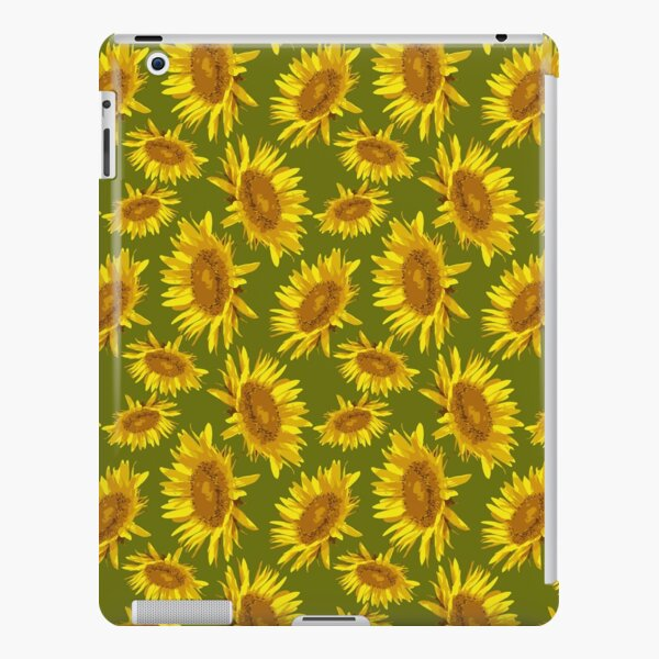 Sunny Sunflowers on Green Background iPad Snap Case