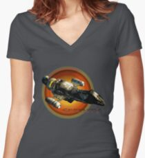 Firefly - Serenity Spaceship Women's Fitted V-Neck T-Shirt