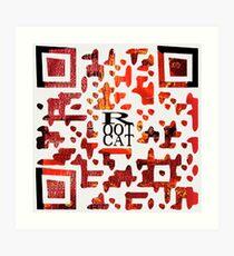 RootCat ASCII c^de Art Print