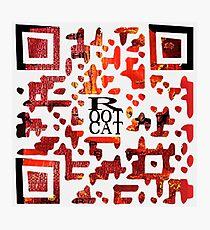 RootCat ASCII c^de Photographic Print