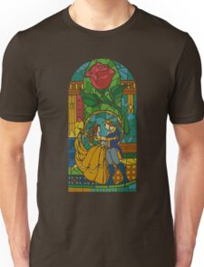 Beauty and The Beast - Stained Glass Unisex T-Shirt