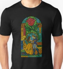 Beauty and The Beast - Stained Glass Slim Fit T-Shirt