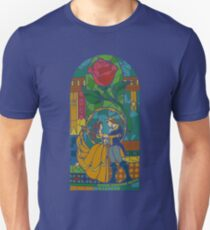 Beauty and The Beast - Stained Glass T-Shirt