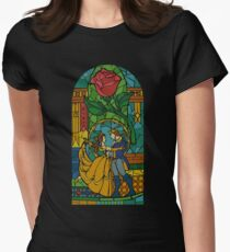 Beauty and The Beast - Stained Glass Women's Fitted T-Shirt
