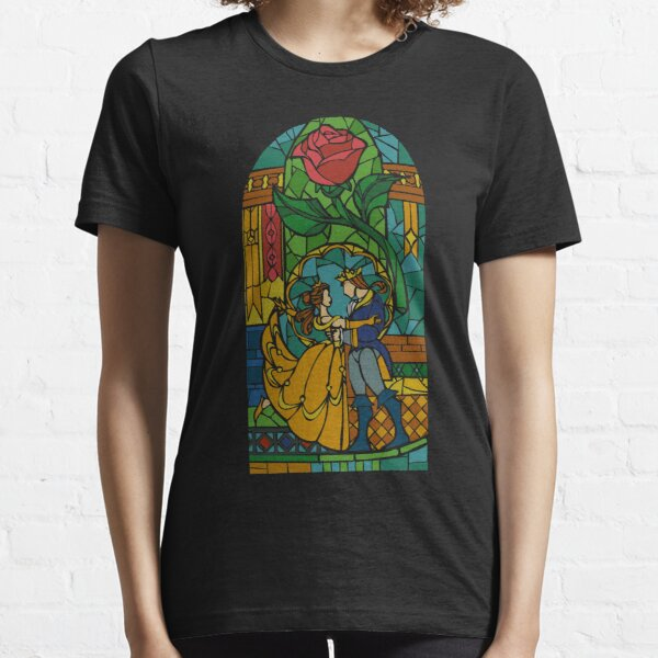 Beauty and The Beast - Stained Glass Essential T-Shirt