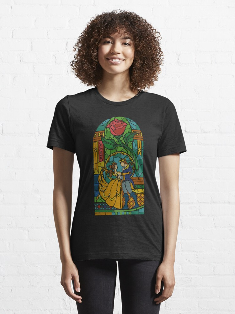 Alternate view of Beauty and The Beast - Stained Glass Essential T-Shirt