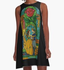 Beauty and The Beast - Stained Glass A-Line Dress