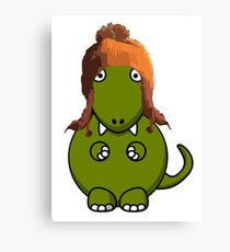 A Dinosaur in Jayne's Hat - Firefly Canvas Print