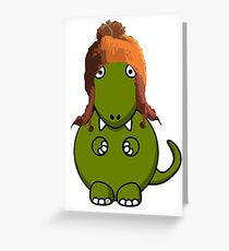 A Dinosaur in Jayne's Hat - Firefly Greeting Card