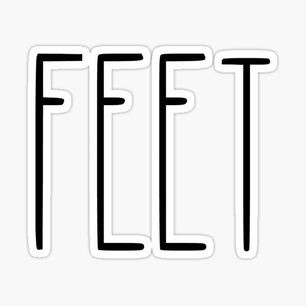 Feet Sticker
