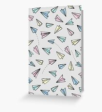 Paper Planes in Pastel Greeting Card