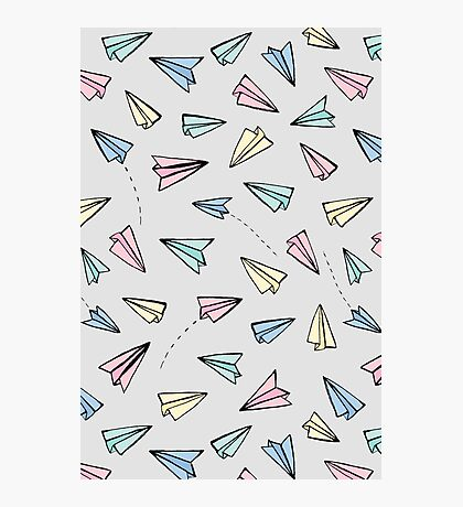 Paper Planes in Pastel Photographic Print
