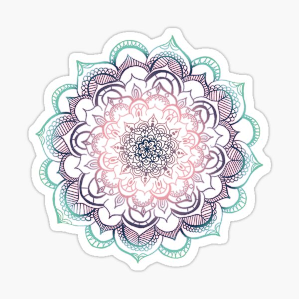 Mermaid Medallion Sticker