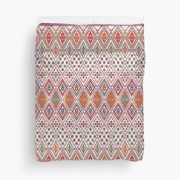 Bohemian Heritage Geometric Traditional Moroccan Style Duvet Cover
