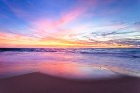 Aussie Sunset Claytons Beach Mindarie by Dave Catley