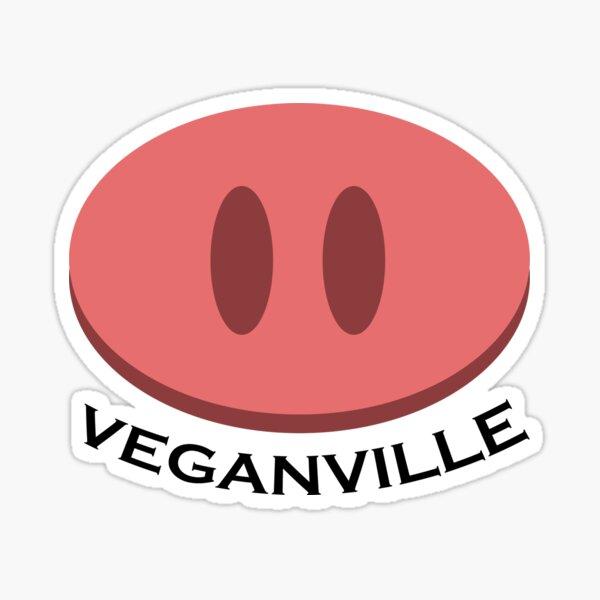 Veganville Pig Snount Sticker
