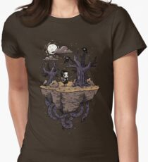 Dark Wood Womens Fitted T-Shirt
