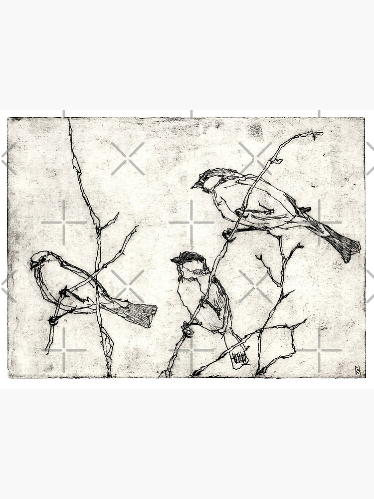 Vögel Radierung von ghostwillow