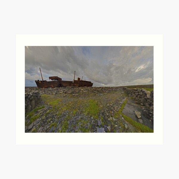 The Plassey - a wrectangular view Art Print