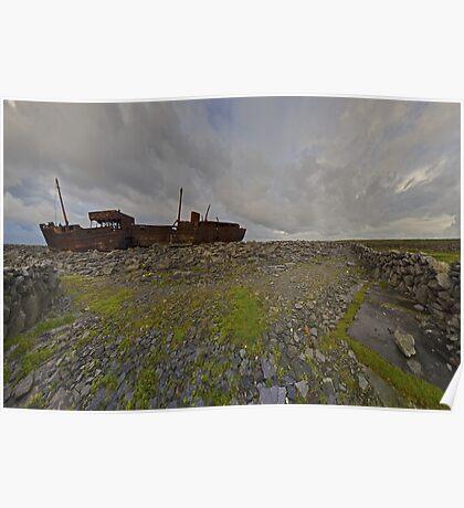 The Plassey - a wrectangular view Poster