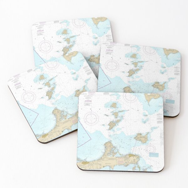 Islands in Lake Erie Coasters (Set of 4)