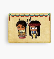 Chibi American Indians Canvas Print