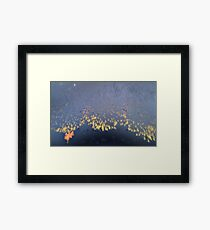 Rainy beach Framed Print