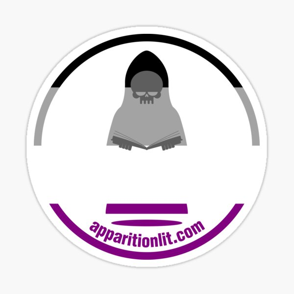 Asexual Ace/Aro Pride Flag As The Apparition Lit Ghostie Sticker