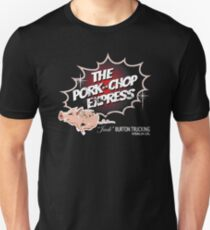 Pork Chop Express - Distressed Black Red Dot Variant Unisex T-Shirt