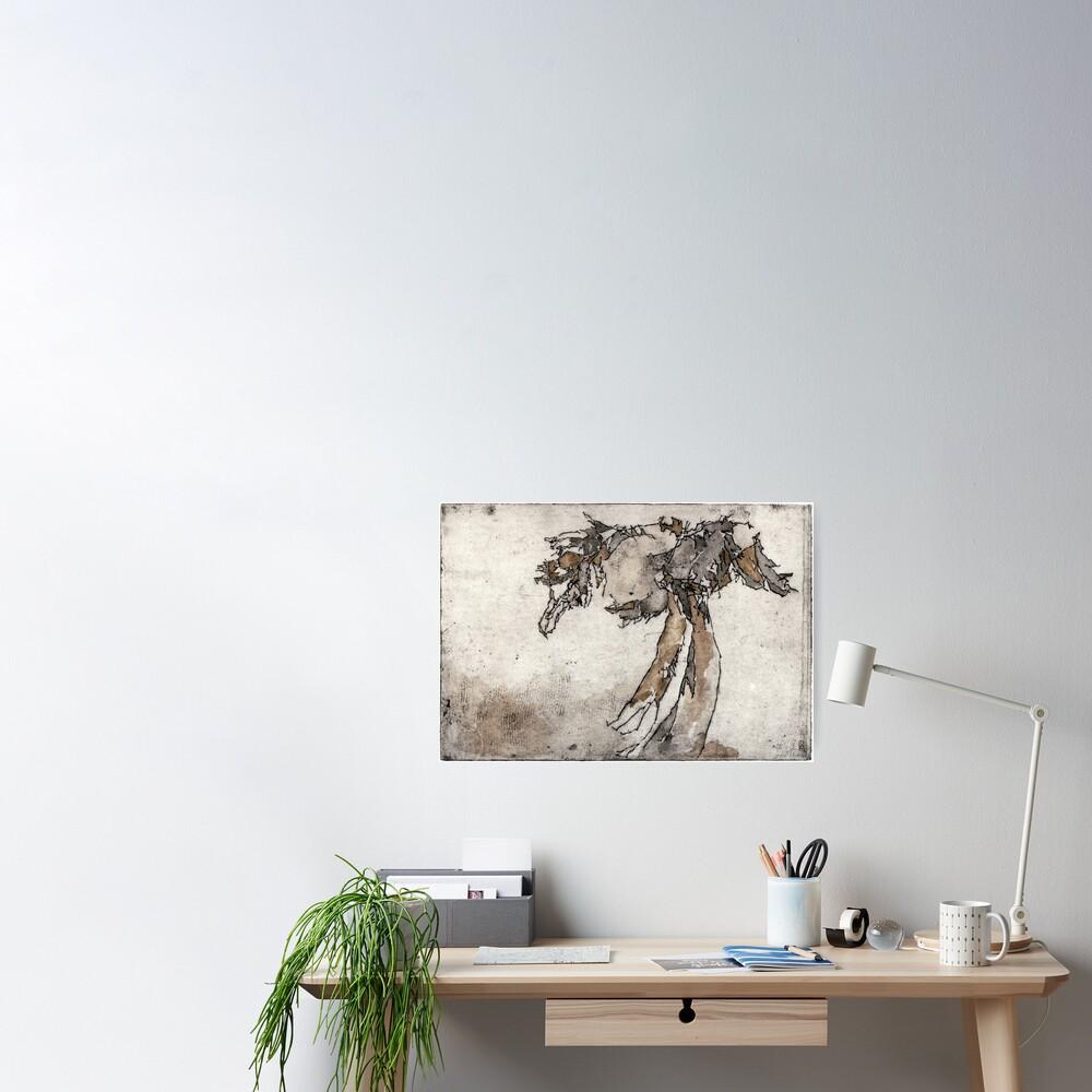Radierung Möwe Abstrakt Poster
