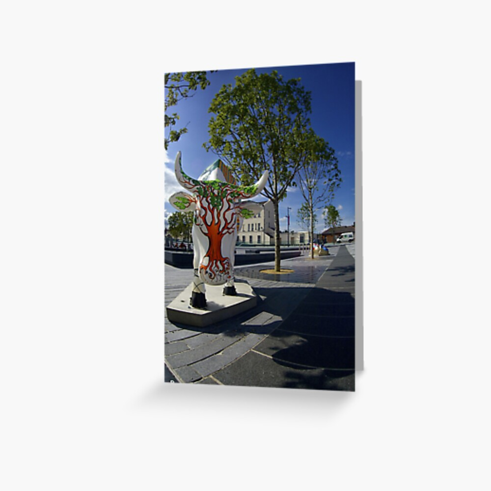 Cows and Trees, Ebrington Square, Derry Greeting Card