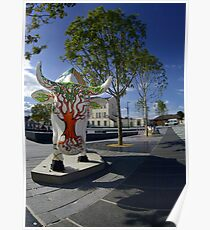 Cows and Trees, Ebrington Square, Derry Poster