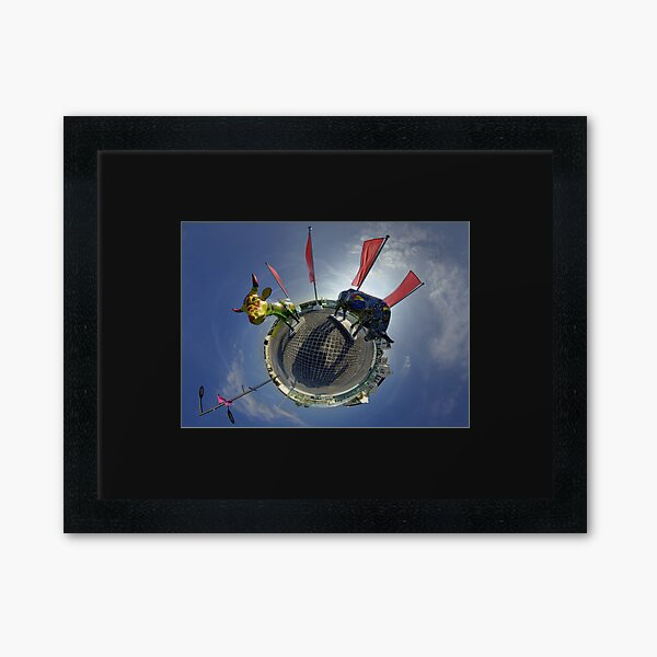 Two Cows on Parade, lower - Ebrington Square, Derry Framed Art Print