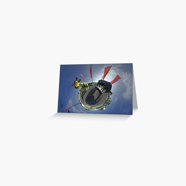 Two Cows on Parade, lower - Ebrington Square, Derry Greeting Card