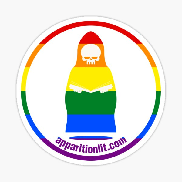 Gay Pride Flag As The Apparition Lit Ghostie Sticker
