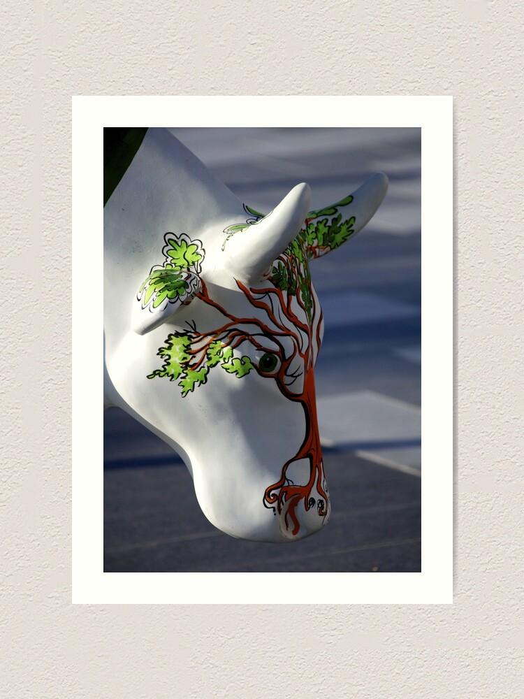 Alternate view of Cow with tree, Ebrington, Derry Art Print