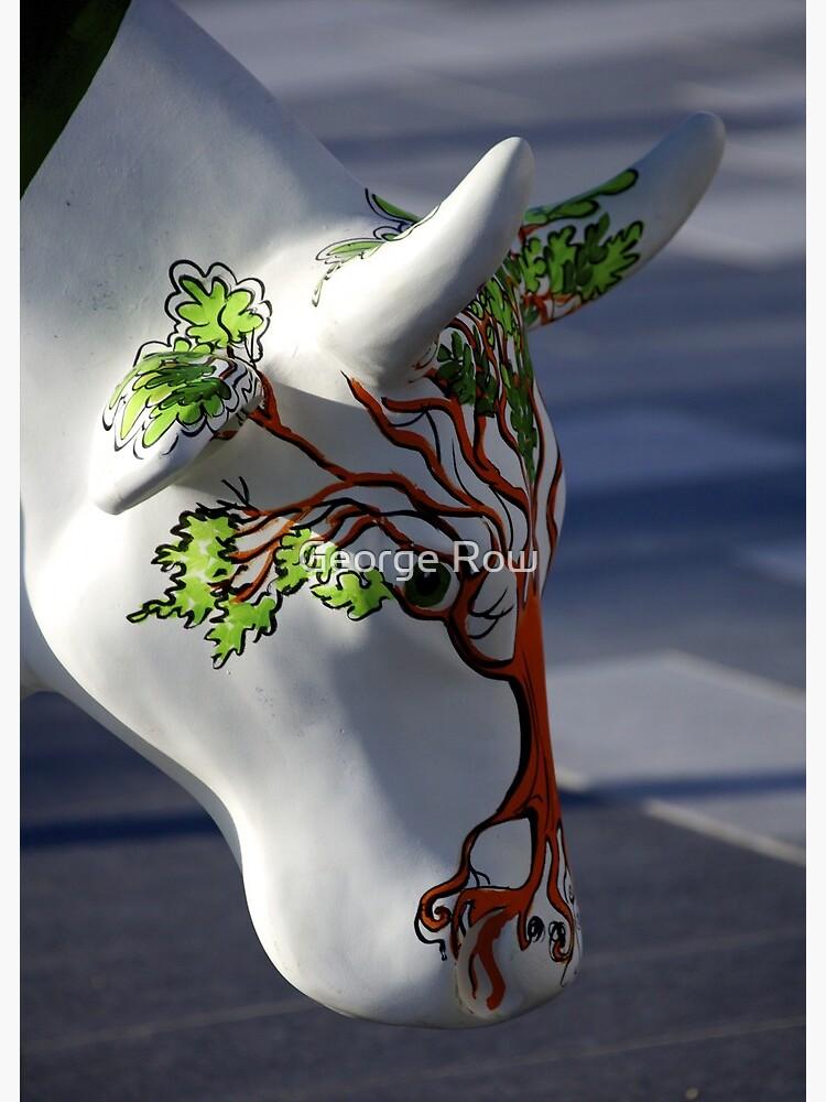 Cow with tree, Ebrington, Derry by VeryIreland