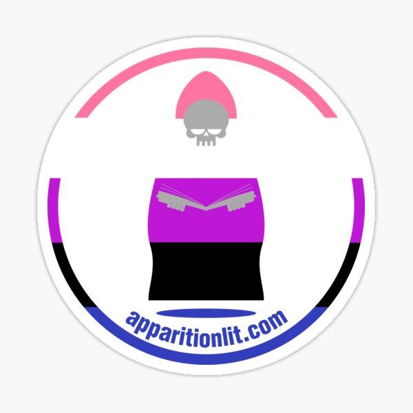 Gender Fluid Pride Flag As The Apparition Lit Ghostie Sticker
