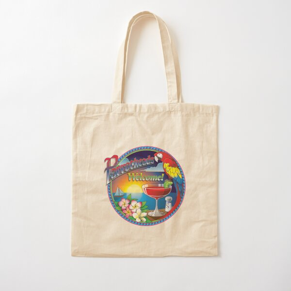 Welcome sign with sunset Cotton Tote Bag
