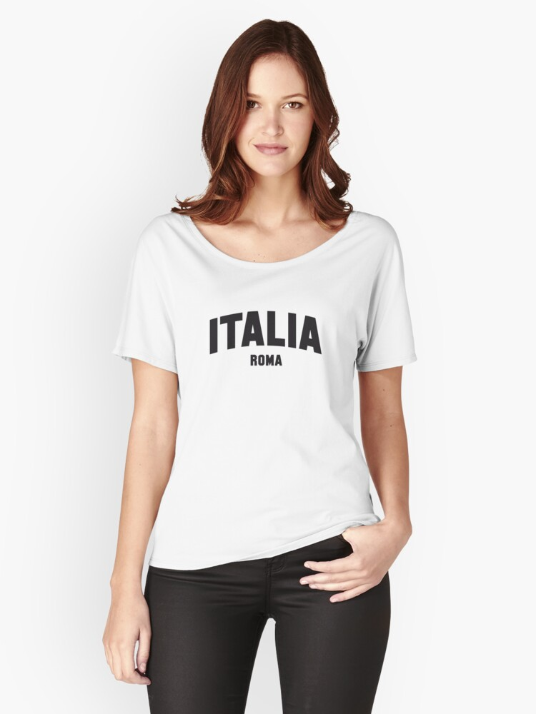 ITALIA ROMA Women's Relaxed Fit T-Shirt Front