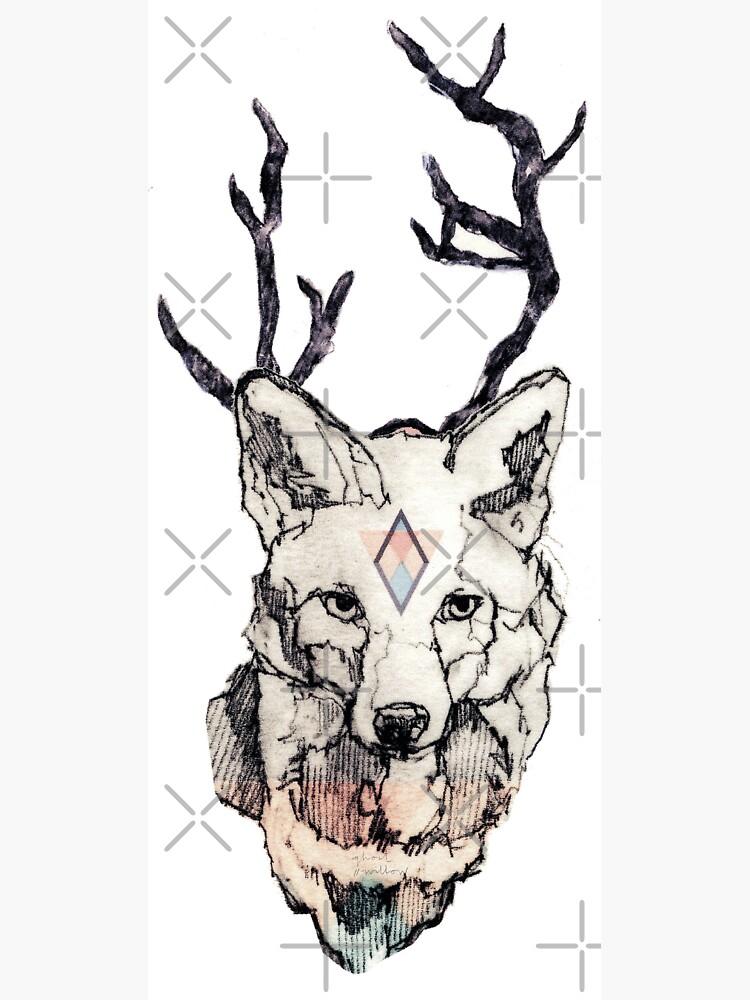 Fuchs Zeichnung Koloriert von ghostwillow