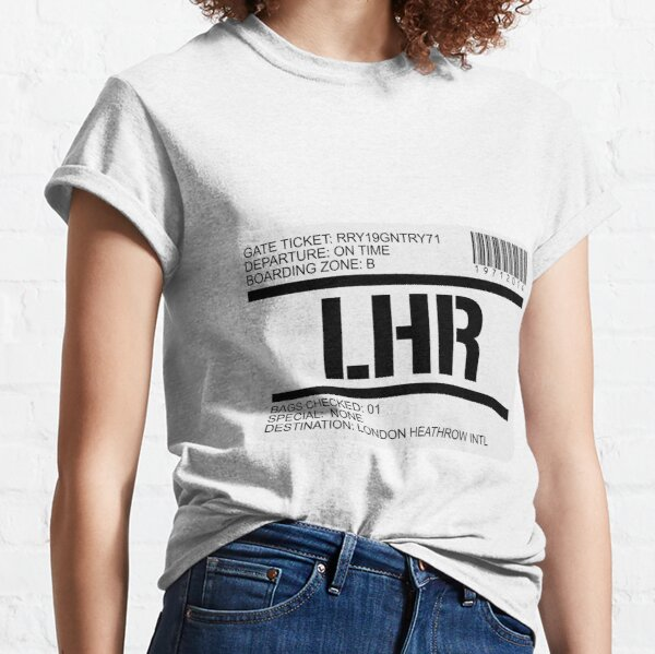 London Heathrow airport destination stamp Classic T-Shirt